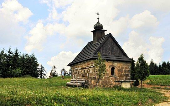 Chapel, Mountains, Trail, Tourism, Religion, Beskids