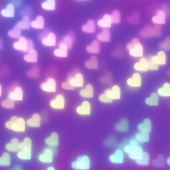 Rainbow, Heart, Bokeh, Seamless Tiling, Backdrop