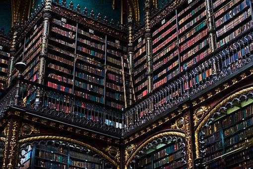 Rio De Janeiro, Brazil, Library, Mood, Old, Books