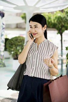 Asian, Calling, Cellphone, Communication, Community