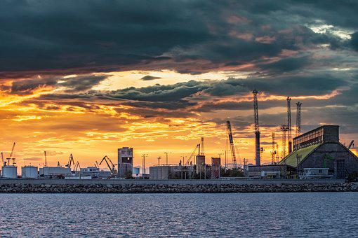 Port, Harbor, City, Europe, Building, Industrial
