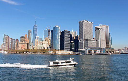 New York, Usa, Hudson, City, Urban, Architecture