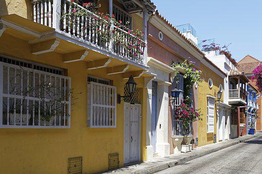 Colombia, Cartagena, Old Town, Colonial Style