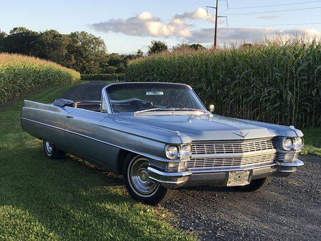 Cadillac, 1964, Deville, Convertible, Coupe