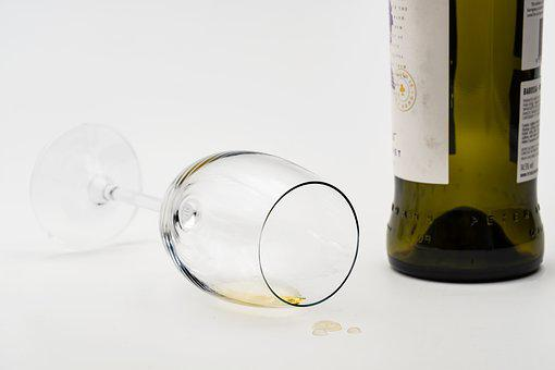 Glass, Bottle, Empty, Depleted, Consumes, Wine Glass