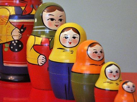 Matroshka, Communism, Ussr, Russia, Different, Family