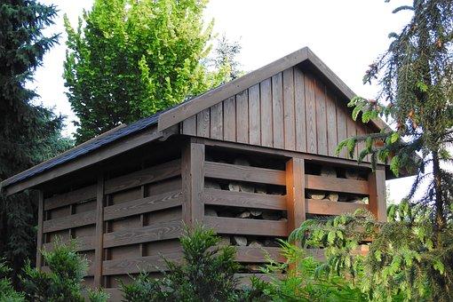 Woodshed, Firewood, Crib, The Barn, Garden