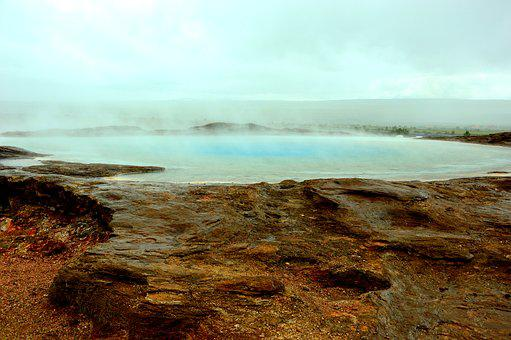 Geyser, Hot Springs, Iceland, Nature, Landscape