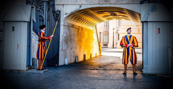 Vatican, Guard, Guard Catholic, St Peter's Basilica