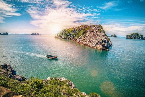 Cat Ba, Vietnam, Haiphong, Travel, Boat, Sky, Water
