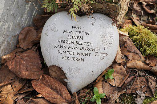 Heart, Saying, Cemetery, Mourning, Farewell, Map, Quote