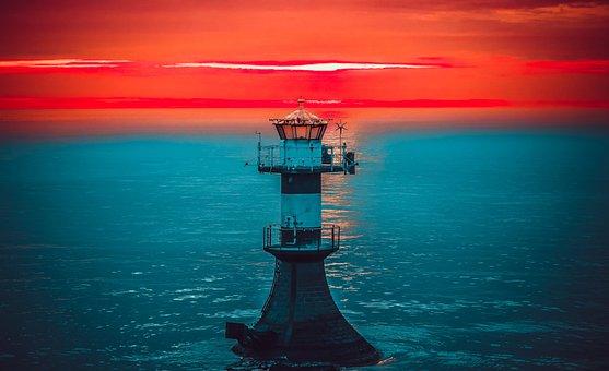 Sea, In The Morning, Water, Ocean, Sky, Nature