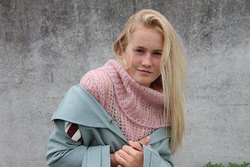Young Girl, Stylish, Blonde, Jacket, Pink