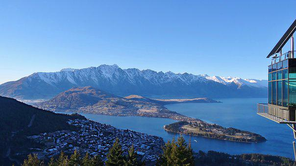 Queenstown, New Zealand, Travel, Mountains, Lake
