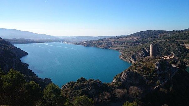 Spain, Pyrenees, Landscape, Huesca, Lake, Torreciudad
