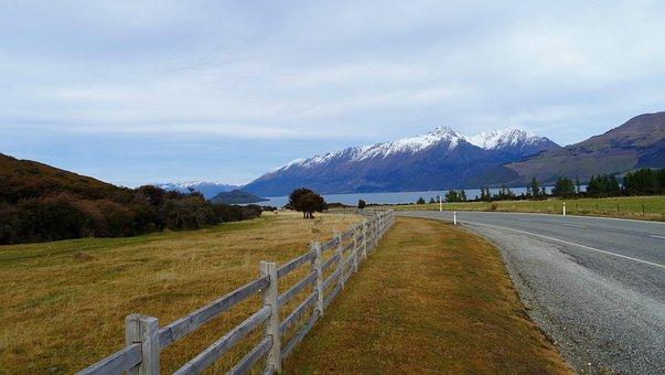 New Zealand, Travel, Road, Landscape, Tourism