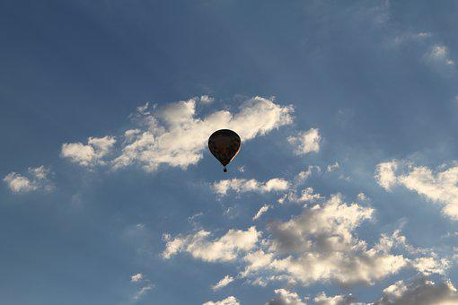 Sky, Balloon, Colorful, Clouds, Floating, Air, Light