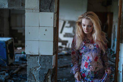 Girl, Blonde, Portrait, Building, Person, Man, Hair