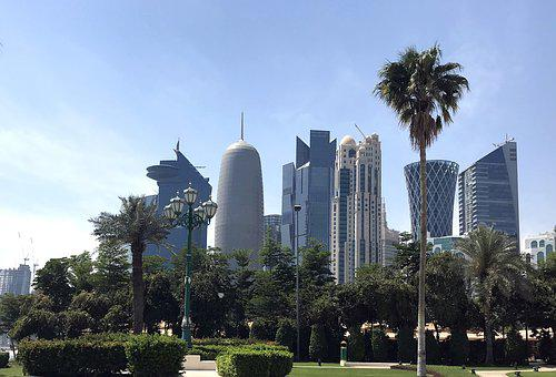 Doha, Skyline, Qatar, Skyscrapers, Modern, Middle