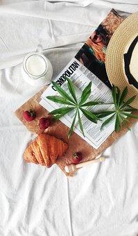 Milk, Croissant, Strawberry, Magazine, Leisure
