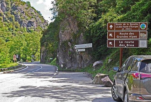 South Of France, National Road, Maritime Alps, Vartal