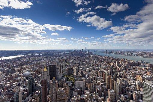 Skyline, New York, City, Architecture, Manhattan, Usa