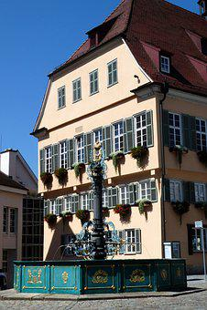 Nürtingen, Market Street, Fountain, Town Hall, Old Town