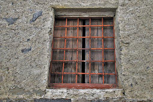 Grating, Old Window, Wall, Building, Rust, Façades, Old