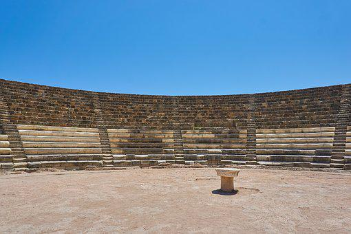 Cyprus, Amphitheater, Old, Antique, Open Air Theatre