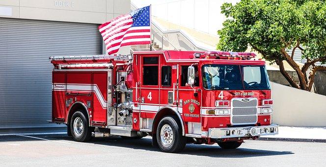 Fire Truck, Dare, Red, Rescue, Vehicles, Profession