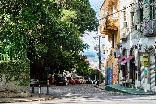 Rio De Janeiro, Brazil, Santa Teresa, Road, Mood, Away