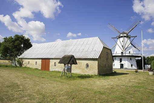 Mill, Windmill, Landscape, Wind, Sky, Architecture