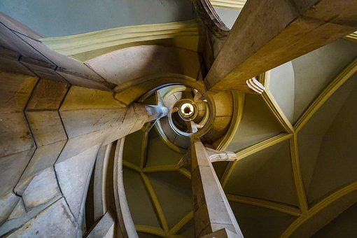 Spiral Staircase, Stairs, Architecture, Gradually