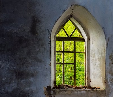 The Window Of The Old Fortress, The Ruins Of The