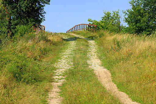 Dirt Road, Bridge, Spacer, Nature, The Silence