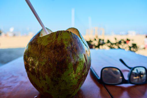 Rio De Janeiro, Brazil, Beach, Sun, Coconut, Vacations