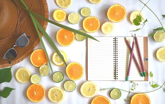 Summer, Citrus, Fruits, Design, Vitamins, Food
