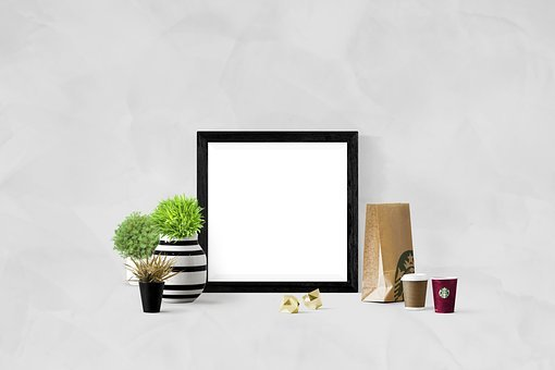 Poster, Wall, Mockup, Frame, Interior, Template, Blank