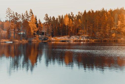 Lake, Reflection, Water, Landscape, Sky, Beautiful