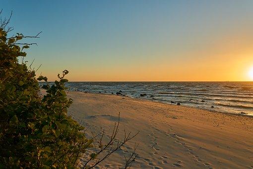 Beach, Rügen, Sunset, Baltic Sea, Sea, Coast, Vacations