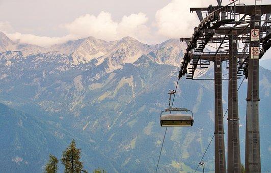Alps, Austria, Cableway, Mast, Column, Mountains