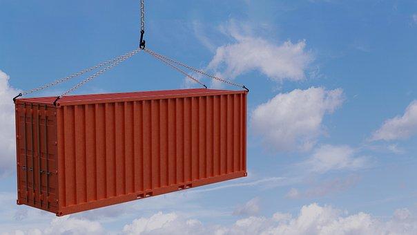 Container, Cargo, Trade, Transport, Marketing Hub, 3d