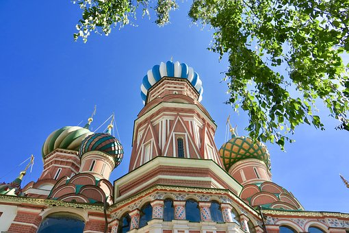 Church, Moscow, Russia, Cathedral, Dome, Orthodox, Sky