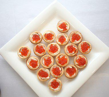 Caviar, A Sandwich, Food, Holiday, Plate, Salmon