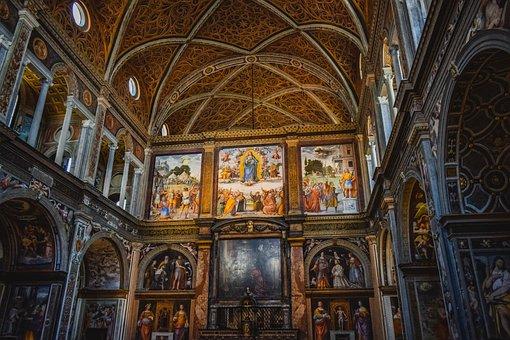 Church, Interior, Architecture, Religion, Old, Historic