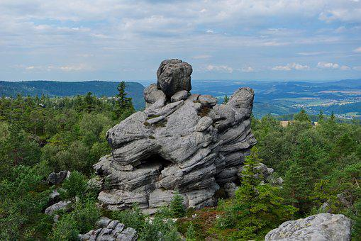 Rocks, Moutains, Poland, Stołowe, Moutain, Cliff