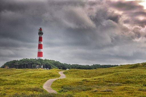 Ameland, Lighthouse, Netherlands, Coast, Sea, North Sea