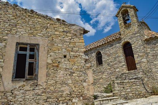 Cyprus, Kato Lefkara, Architecture, Village, Church