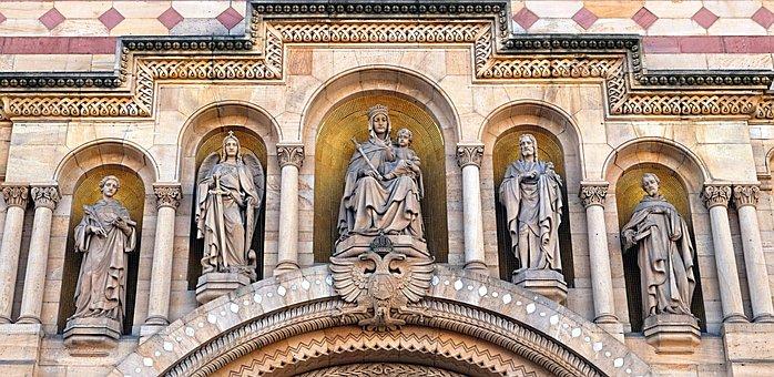Romanesque, Architecture, Dom, Portal, Stone