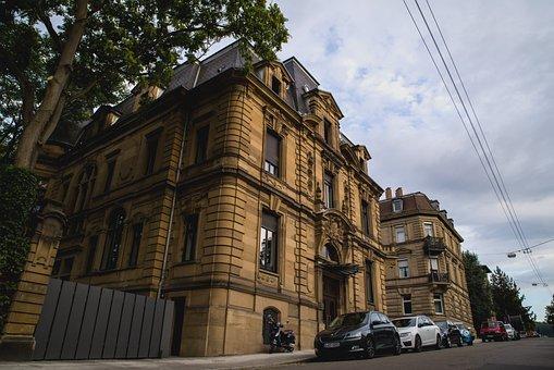 Stuttgart, Road, Houses, Villas, Elegant